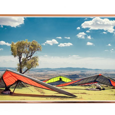 Hang Gliding Photo Poster. Manilla, Australia