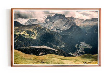 Hang Gliding Photo Poster Dolomites