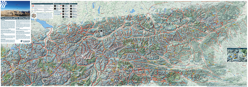 Valley Wind Map Alps from Viento