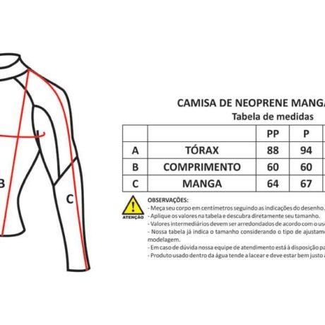 Size chart Leonarda Speedarms